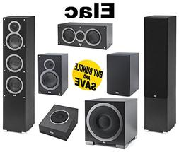 "ELAC - F5 Tower Speakers + ELAC C5 5.25"" Center + ELAC S10E"