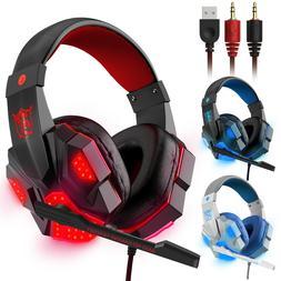 3 5mm gaming headset mic led headphones