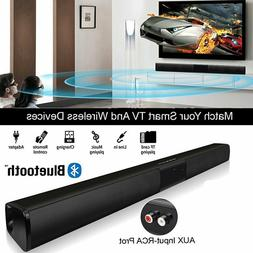 3D Stereo Surround Sound TV Bar System Wireless Soundbar w/