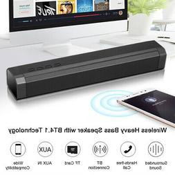 3D Surround Sound Bar Speaker System Subwoofer Wireless Blue