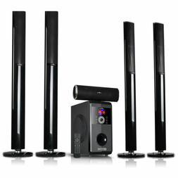 5.1 Channel Surround Sound Bluetooth Stand Speaker System -