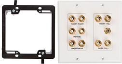 Buyer's Point 5.1 Speaker Wall Plate, Premium Quality Gold P