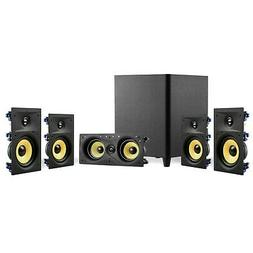 "TDX 5.1 Surround Sound Home Theater System, 6.5"" In-Wall Spe"