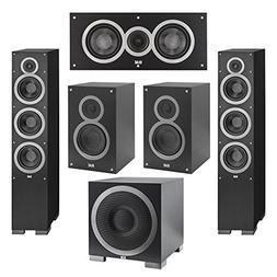 Elac 5.1 System with 2 Debut F6 Floorstanding Speakers, 1 De
