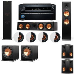 Dolby Atmos 5.2.4 Klipsch RP-280F Tower Speakers R112SW with