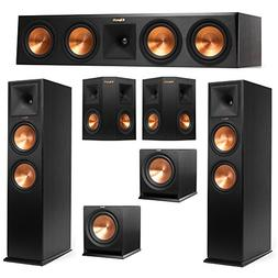 Klipsch 5.2 System with 2 RP-280F Tower Speakers, 1 RP-450C
