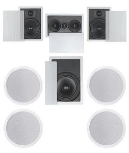 7.1 Home Theater Flush Inwall/Ceiling Speaker Package- Two I