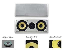 """Acoustic Audio HD-6c In-Wall 6.5"""" Center Channel Speaker In"""