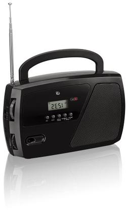 GPX, Inc. R633B Portable Shortwave AM/FM Clock Radio