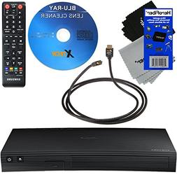 Samsung BD-J5100 Curved Disk Blu-ray Player + Remote Control