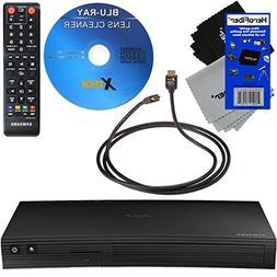 Samsung BD-J5100 Curved Disk Blu-ray Player + Remote Control