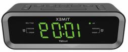 Timex T236BQX FM Dual Alarm Clock Radio with USB Mobile Devi