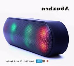 Abuzhen Bluetooth Speaker LED Portable Wireless Speaker Mini