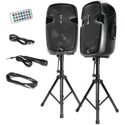 Pyle Active + Passive PA Speaker System Kit