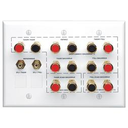 Leviton AEHTK Home Theater 3-Gang Wallplate