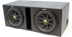 "ASC Package Dual 12"" Kicker Sub Box Vented Port Subwoofer En"