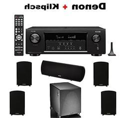 Denon Audio & Video Component Receiver Black  + 2 Pairs of D