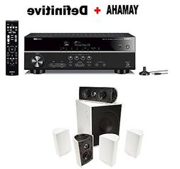 Yamaha Bluetooth Audio & Video Component Receiver,Black  + D