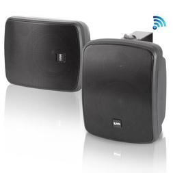 Pyle Bluetooth Dual 5.25'' Wall-Mount Marine Speakers Ac