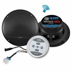 Pyle Bluetooth Marine Grade Flush Mount 2-Way Speaker System
