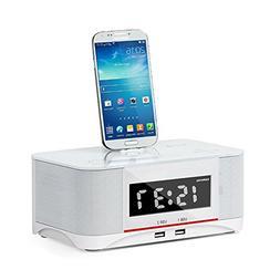 innuoo Bluetooth Speaker NFC System Alarm Clock FM Radio & C
