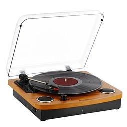 Bluetooth Turntable,JOPOSTAR Vinly Record Player Built-in Du
