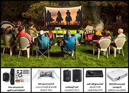BYTS 9' Dual Projector Screen with HD Optoma 1080p Projector