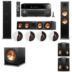 Dolby Atmos 5.1.4 Klipsch RP-280F Tower Speakers R-115SW wit