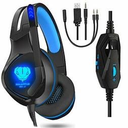Gaming Headset, Gaming Headphones with mic for PS4, Xbox One