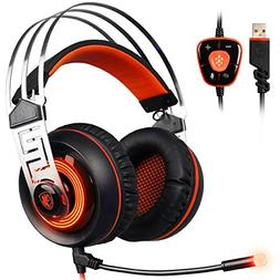 Gaming Headset , SADES A7 PC Headsets USB Gaming Headphone O