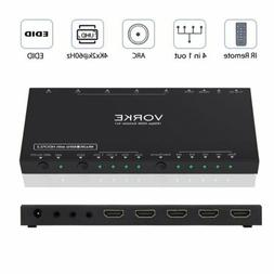 VORKE HDMI Switch HDR 4k2k@60Hz18Gbps 4 in 1 Out HDMI2.0b HD