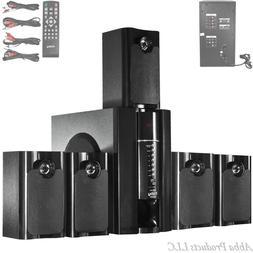 Home Theater 5.1 Surround Sound Speaker Sub 800W Remote LCD