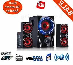 Home Theater Speaker System Stereo Surround Sound Speakers W