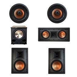 Klipsch 5.1 In-Wall System with with 2 R-5800-W II In-Wall S