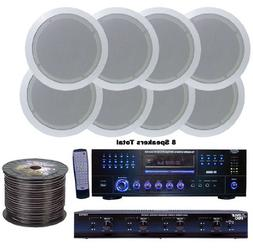 Pyle KTHSP85DV 4 Room Home In-Ceiling Speakers W/DVD/MP3 Amp