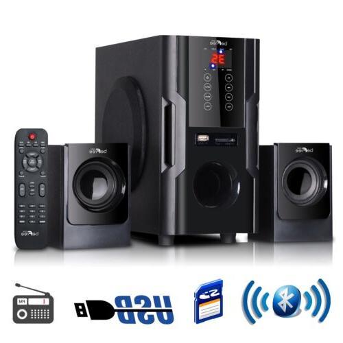 2 1 channel surround sound bluetooth speaker