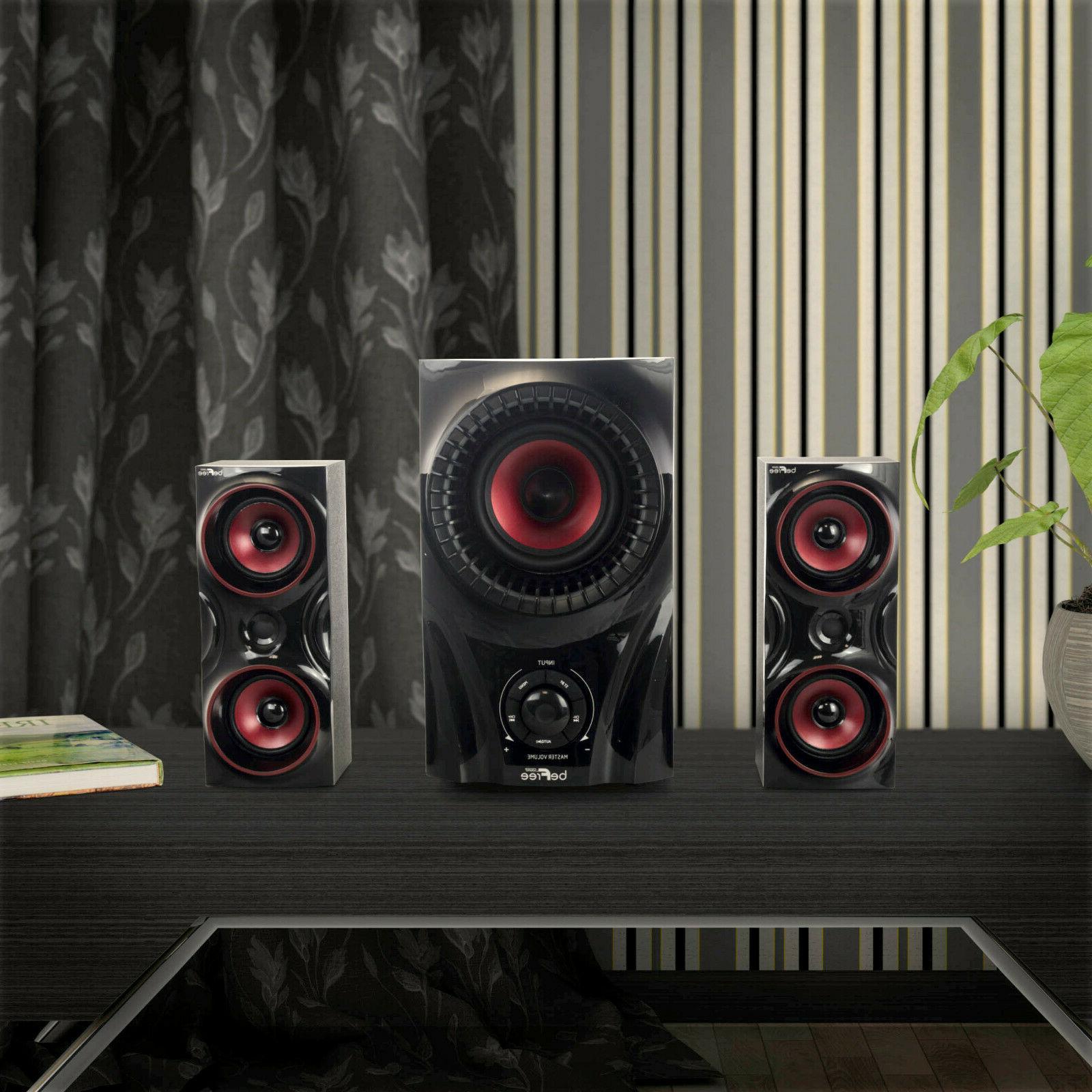 BEFREE SOUND 2.1 SURROUND SOUND SYSTEM w/REMOTE