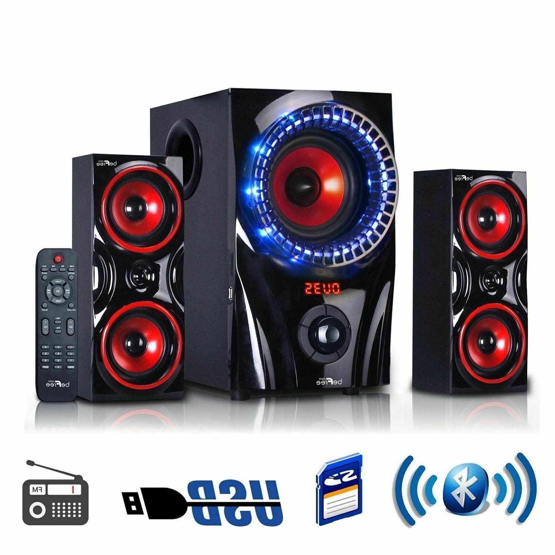 BEFREE 2.1 SURROUND SOUND BLUETOOTH SYSTEM w/REMOTE