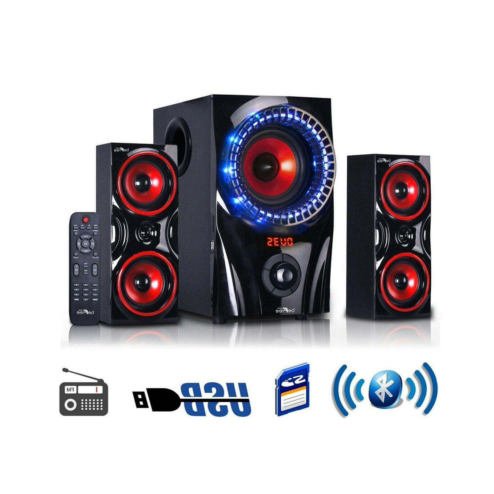 2 1 channel surround sound bluetooth usb