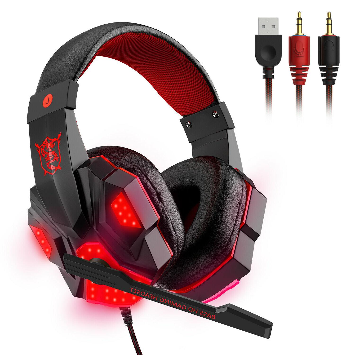 3.5mm Gaming LED Bass Surround For One PS4