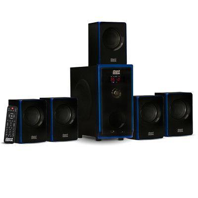5 1 bluetooth 6 speaker system home