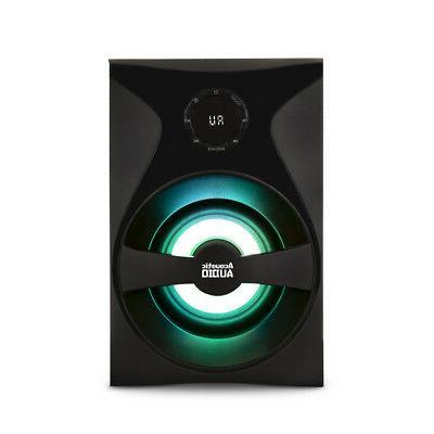 Acoustic Audio 5.1 Speaker System Light FM Home Theater