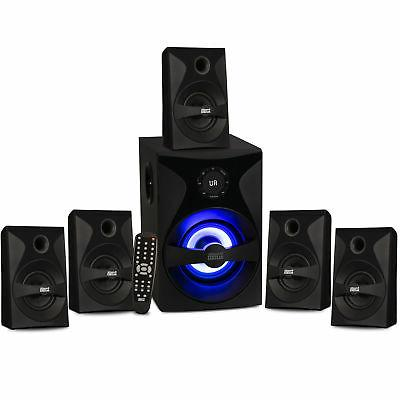 Acoustic Audio Speaker System with Light FM Home Theater