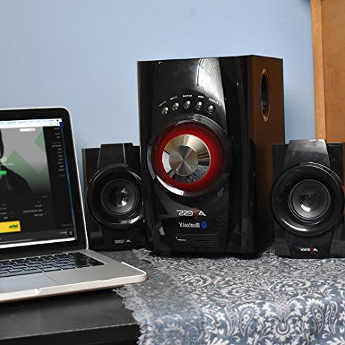 AXESS Bluetooth 2.1-Channel Home Theater System
