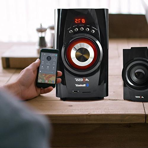AXESS Bluetooth 2.1-Channel System Red
