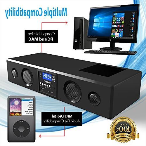 Pyle Soundbar - Sound System Bass TV, Radio 3.5mm Input , Remote For TV, - PSBV200BT