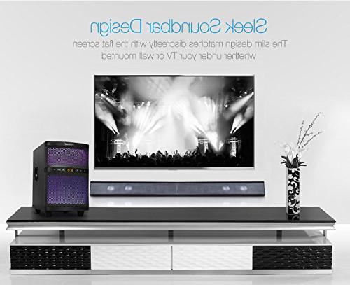LuguLake TV Sound with Bluetooth, Floor Speaker, Adjustable Lights, USB Reader,