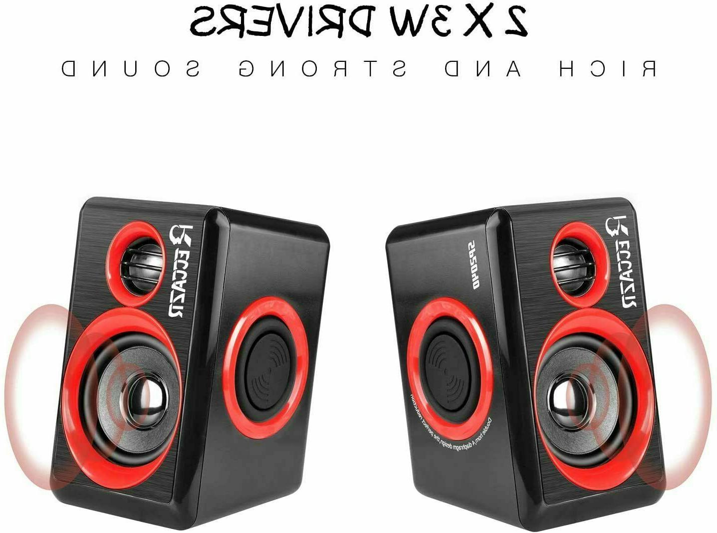 Gaming Speakers Sound Loud Bass Desktop