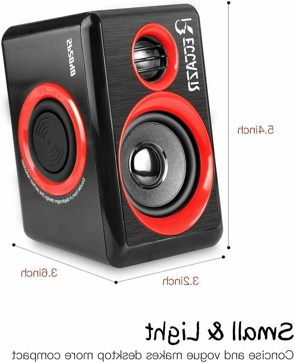 Gaming Speakers Surround Sound Bass USB Desktop Computer
