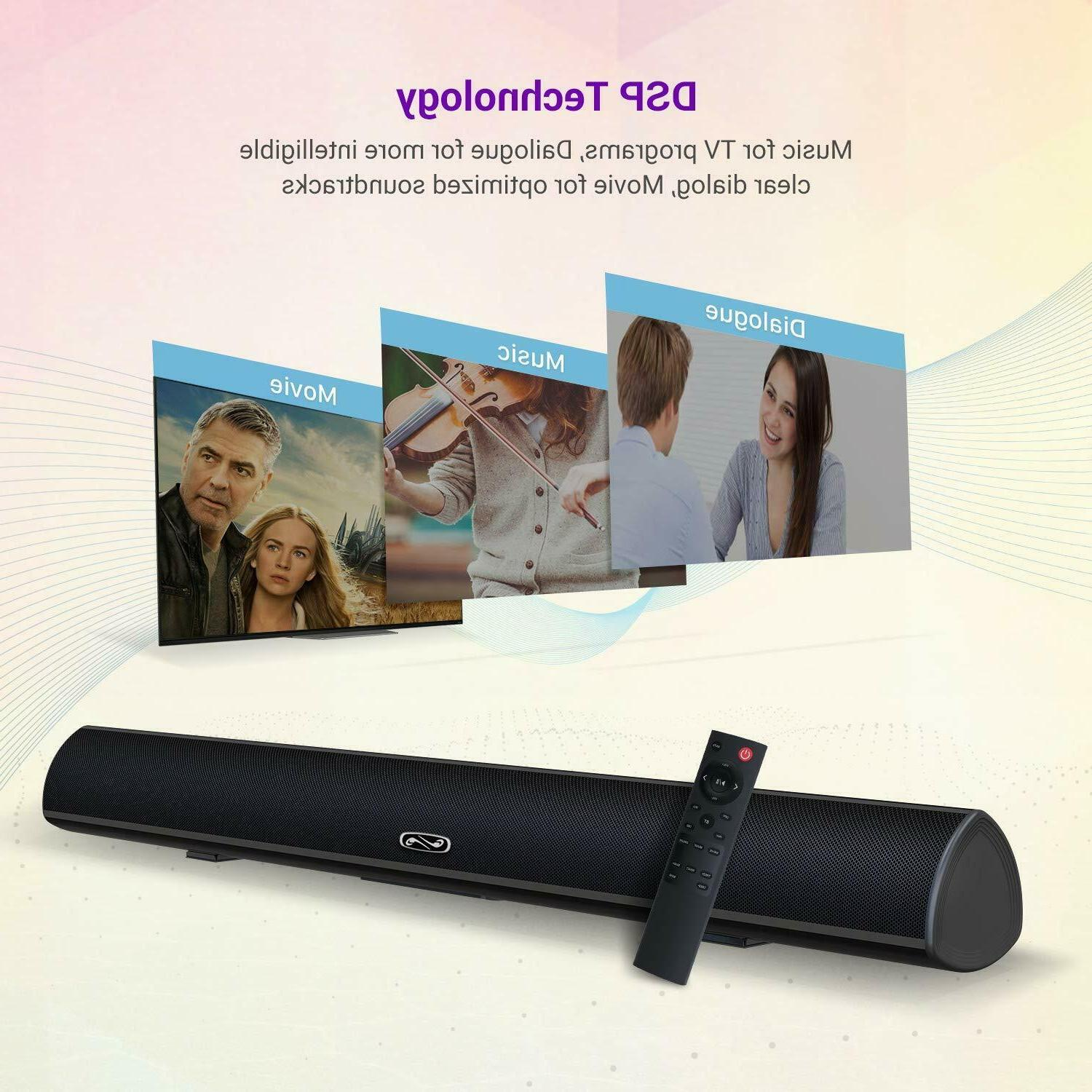 Home System Surround Sound Bar TV, PC, Tablet